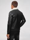 Куртка из искусственной кожи на молнии oodji для мужчины (черный), 1L511061M/48591N/2900N - вид 3