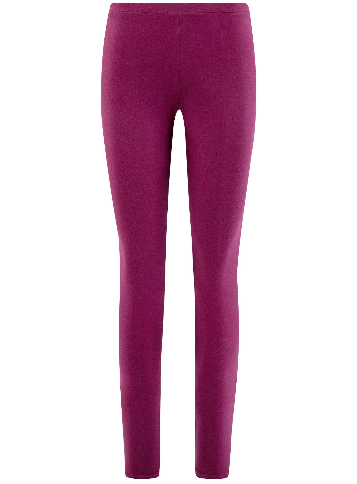 Легинсы базовые oodji для женщины (фиолетовый), 18700028-7B/46159/8300N