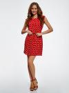 Платье принтованное из вискозы oodji для женщины (красный), 11910073-2/45470/4512D - вид 2