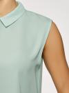 Топ базовый из струящейся ткани oodji для женщины (зеленый), 14911006-2B/43414/6500N - вид 5