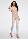 Блузка прямого силуэта с нагрудным карманом oodji для женщины (розовый), 11411134B/46123/4029G - вид 6