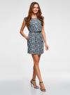 Платье принтованное из вискозы oodji для женщины (синий), 11910073-2/45470/7912F - вид 5