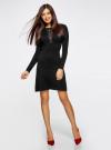 Платье с декоративной вставкой oodji для женщины (черный), 73912220/33506/2900N - вид 2