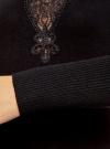 Платье с декоративной вставкой oodji для женщины (черный), 73912220/33506/2900N - вид 5