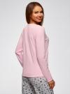 Джемпер прямого силуэта с принтом oodji для женщины (розовый), 59811012-2/24336/4075P - вид 3