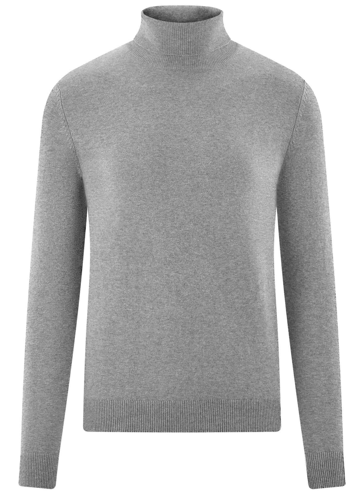 Свитер базовый из хлопка oodji для мужчины (серый), 4B312003M-1/34390N/2301M
