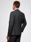 Пиджак базовый приталенный oodji для мужчины (серый), 2B420019M/44320N/2500M - вид 3