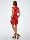 Платье принтованное из вискозы oodji для женщины (красный), 11910073-2/45470/4512D - вид 3