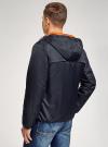 Куртка утепленная с капюшоном oodji для мужчины (синий), 1L512022M/44334N/7900N - вид 3