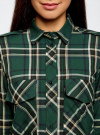 Рубашка в клетку с нагрудными карманами oodji для женщины (зеленый), 11411052-2/45624/6912C - вид 4