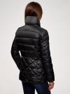 Куртка стеганая с воротником-стойкой oodji для женщины (черный), 10203031-1/18268/2900N - вид 3
