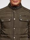 Куртка стеганая с накладными карманами oodji для мужчины (коричневый), 1L111044M/39877N/3900N - вид 4