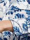 Блузка вискозная с нагрудными карманами oodji для женщины (слоновая кость), 21411115/46436/3079F - вид 5