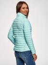 Куртка с рукавами реглан и воротником-стойкой oodji для женщины (бирюзовый), 10207006/33445/7300N - вид 3
