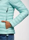 Куртка с рукавами реглан и воротником-стойкой oodji для женщины (бирюзовый), 10207006/33445/7300N - вид 5