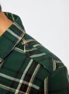 Рубашка в клетку с нагрудными карманами oodji для женщины (зеленый), 11411052-2/45624/6912C - вид 5