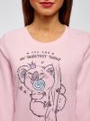 Джемпер прямого силуэта с принтом oodji для женщины (розовый), 59811012-2/24336/4075P - вид 4
