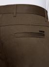 Брюки-чиносы хлопковые oodji для мужчины (коричневый), 2B200015M/21822N/3700N - вид 5