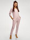 Комбинезон хлопковый с аппликацией oodji для женщины (розовый), 59809007/46154/4110P - вид 6
