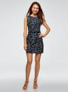 Платье льняное без рукавов oodji для женщины (синий), 12C00002-1B/16009/7962F - вид 2