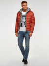 Куртка стеганая с капюшоном oodji для мужчины (оранжевый), 1B112009M/25278N/5500N - вид 6