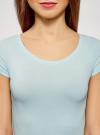 Комплект футболок с вырезом-капелькой на спине (3 штуки) oodji для женщины (синий), 14701026T3/46147/7000N - вид 4
