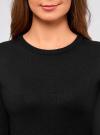 Платье вязаное базовое oodji для женщины (черный), 73912217-2B/33506/2900N - вид 4