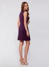 Платье трикотажное с декором из камней oodji для женщины (фиолетовый), 24005134/38261/8800N - вид 3