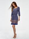 Платье вискозное с рукавом 3/4 oodji для женщины (синий), 11901153-2B/42540/7949G - вид 6