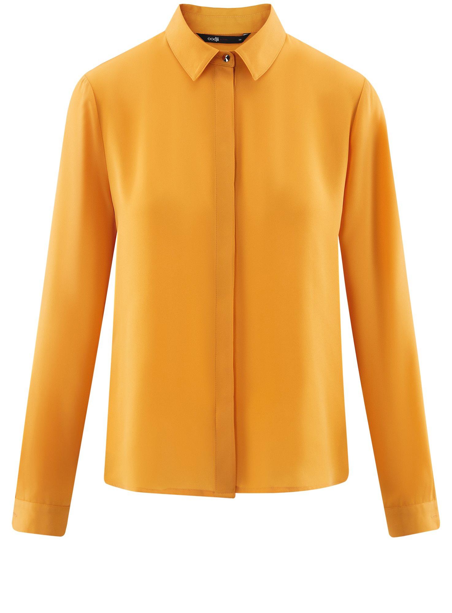 Блузка из струящейся ткани oodji для женщины (оранжевый), 11400368-3/32823/5200N