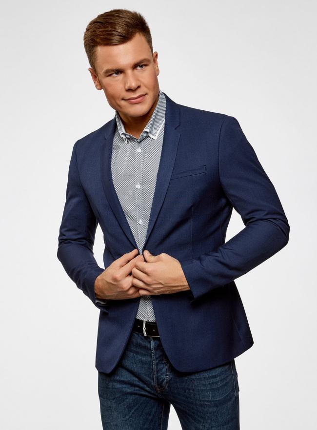 Пиджак классический oodji для мужчины (синий), 2B420016M/46317N/7800N