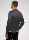 Куртка-бомбер с контрастной отделкой oodji для мужчины (синий), 1L514017M/48785N/7929O - вид 3