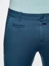 Брюки-чиносы хлопковые oodji для мужчины (синий), 2B150006M/39139N/7500N - вид 5