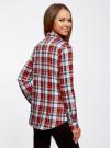 Рубашка хлопковая с нагрудными карманами oodji для женщины (красный), 11411052-1B/42850/4512C - вид 3