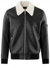 Куртка из искусственной кожи на молнии oodji для мужчины (черный), 1L511061M/48591N/2900N