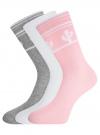 Комплект высоких носков (3 пары) oodji #SECTION_NAME# (разноцветный), 57102902T3/47469/38 - вид 2