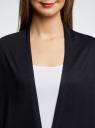 Кардиган удлиненный без застежки oodji для женщины (черный), 73212385-2/42506/2900N