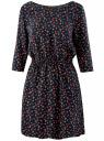 Платье вискозное с рукавом 3/4 oodji для женщины (синий), 11901153-1B/42540/7957O