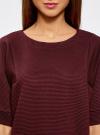 Платье в рубчик свободного кроя oodji для женщины (красный), 14008017/45987/4900N - вид 4