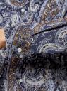 """Рубашка хлопковая с принтом """"пейсли"""" oodji #SECTION_NAME# (синий), 21402212-1/45966/7933E - вид 5"""