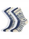Комплект из шести пар хлопковых носков oodji #SECTION_NAME# (разноцветный), 57102902-5T6/49118/47 - вид 2