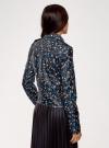 Куртка-косуха принтованная из искусственной кожи oodji #SECTION_NAME# (черный), 18A03007-1/48196/2975F - вид 3