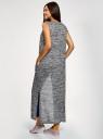 Жилет удлиненный с карманами oodji для женщины (серый), 18905001-1/49083/2912M
