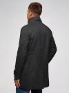 Пальто однобортное с воротником-стойкой oodji #SECTION_NAME# (серый), 1L312002M/48524N/2300N - вид 3