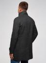 Пальто однобортное с воротником-стойкой oodji для мужчины (серый), 1L312002M/48524N/2300N