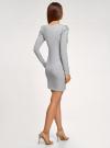Платье с бусинами на плечах oodji #SECTION_NAME# (серый), 14000171-3/46148/2012Z - вид 3