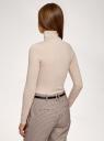 Водолазка базовая облегающая oodji для женщины (бежевый), 15E11001-3B/45297/3300N