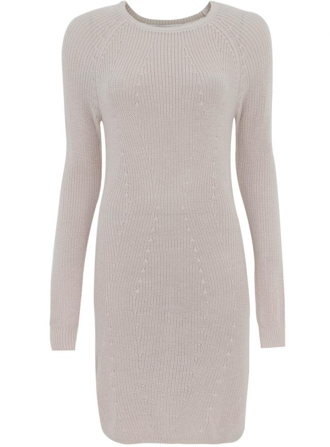 Трикотажное платье oodji для женщины (бежевый), 73907055/43559/3300N