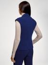 Жилет приталенного силуэта oodji для женщины (синий), 12302002/42014/7500N - вид 3