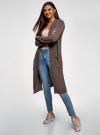 Кардиган с капюшоном и накладными карманами oodji #SECTION_NAME# (коричневый), 63205252/48953/3701N - вид 6